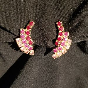 Jewelry - True Vintage Clip-on Earrings Costume